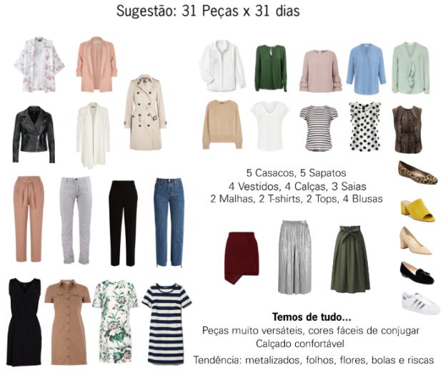 Rita Completo - Consultoria de imagem - Guarda roupa cápsula - sugestão 31 peças x 31 dias