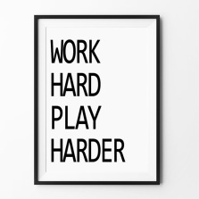 WORK-HARD-PLAY-HARDER-Home-decorative-wall-art-Cartoon-inspiration-canvas-poster-pictures-painting-on-the.jpg_640x640